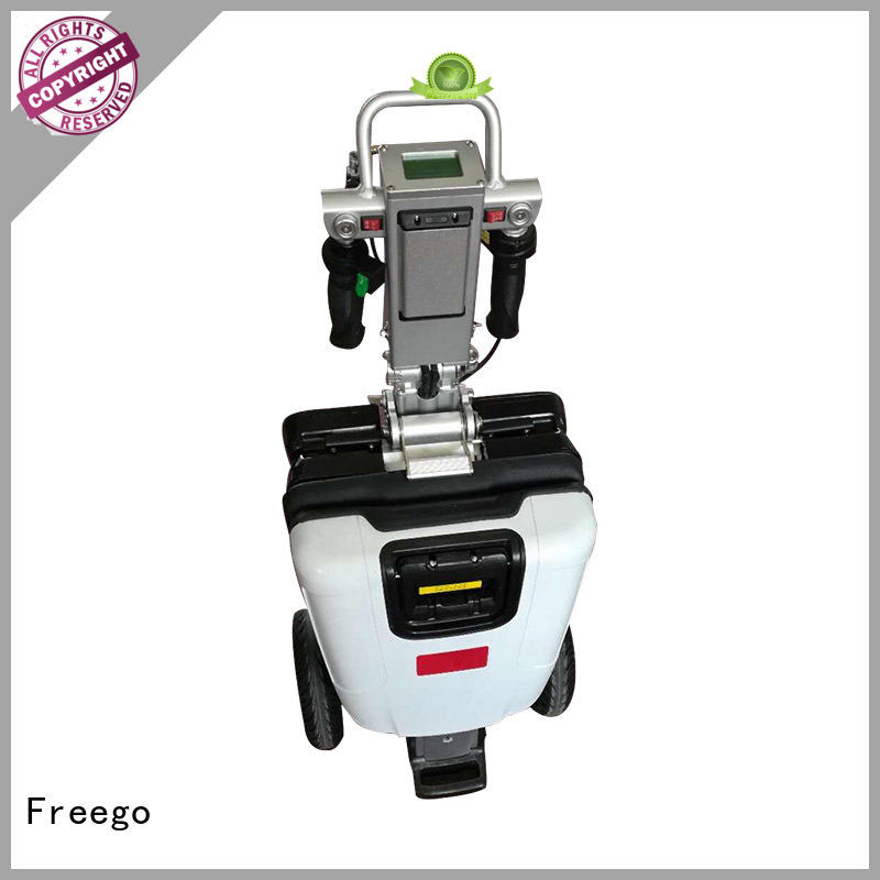 Freego foldable electric mobility scooter with Seat for work