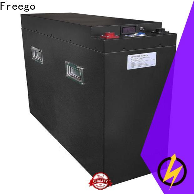 Freego long lasting lithium ion battery for solar storage with good price for Solar energy storage
