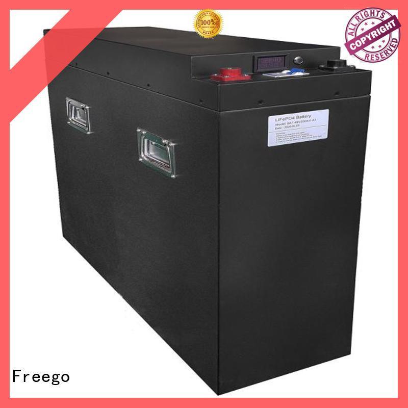 Freego storage lithium battery for solar storage manufacturer for street lights
